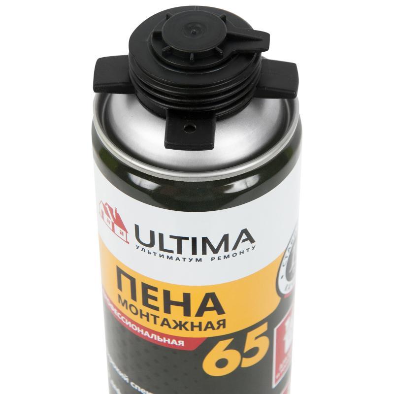 Пена монтажная пистолетная Ultima pro 65 лето профессиональная 850 мл