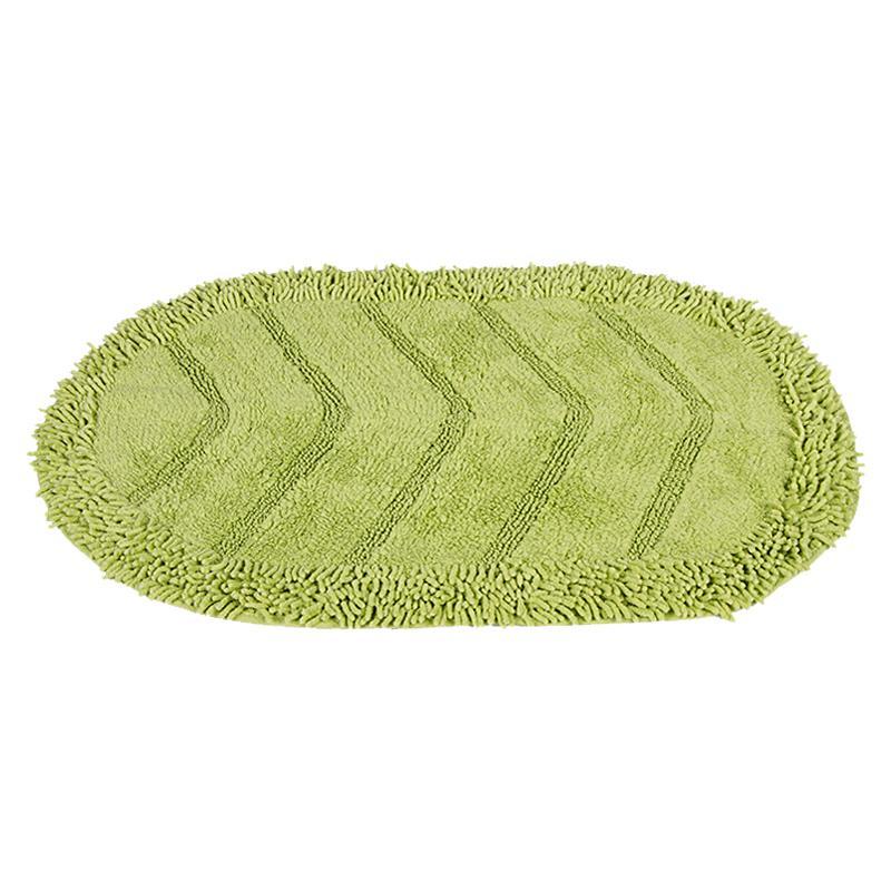 Коврик для ванной комнаты Лапша 50х80, зелёный