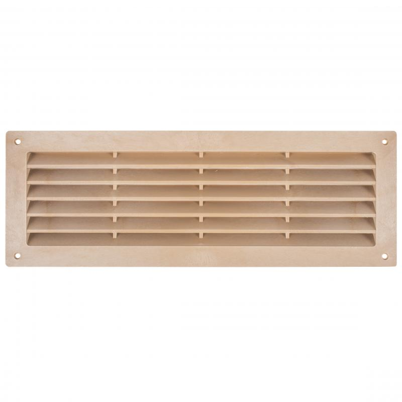 Решетка дверная вентиляционная Вентс МВ 350, 368x130 мм, цвет светлый дуб