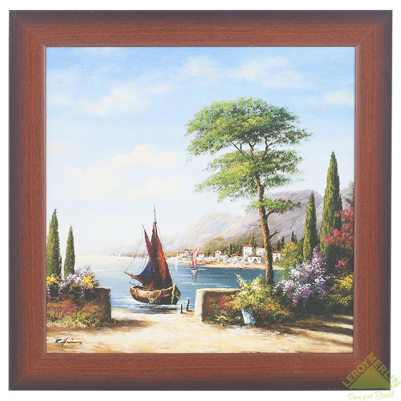 Постер в раме Азура 33х33 см «Порт Эспесиале»