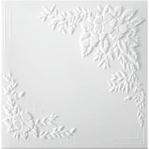 Плита потолочная экструдированная С2068, 2 м2, 50х50 см, экструдированный полистирол, цвет белый