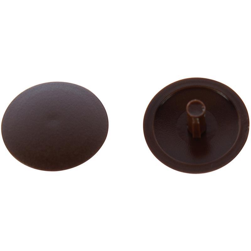 Заглушка на шуруп-стяжку PZ 7 мм полиэтилен цвет коричневый, 50 шт.