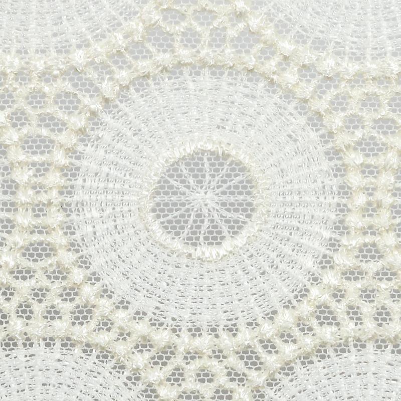 Тюль с вышивкой на сетке «Кольца» 1 п/м290 см цвет кремовый