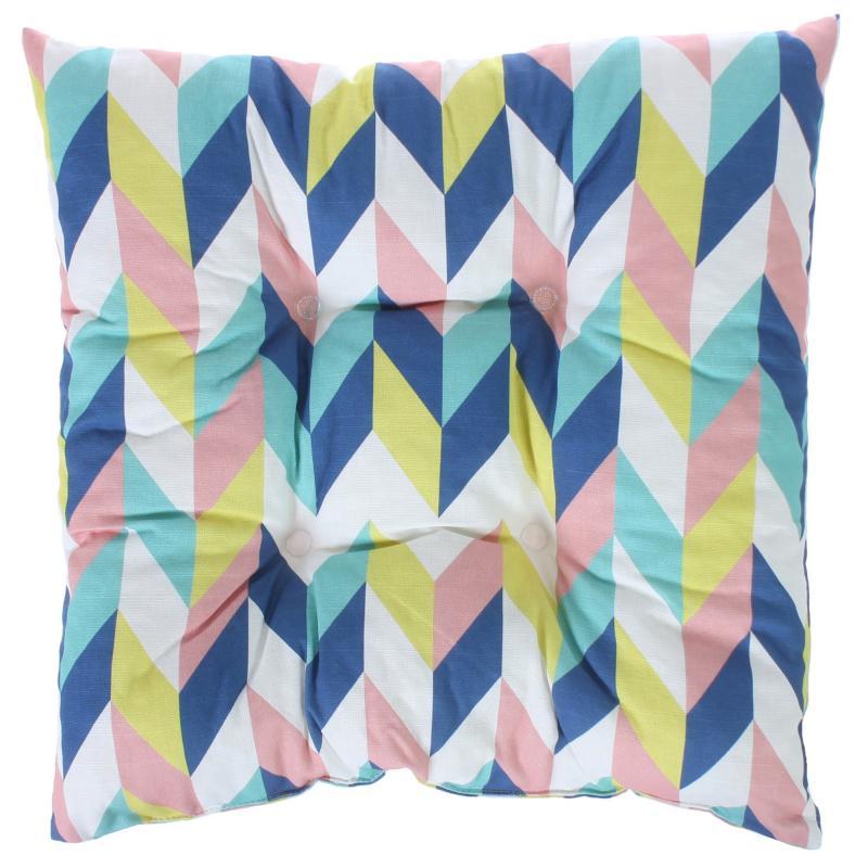 Подушка для стула «Скандинавия», 40х40 см, цвет синий