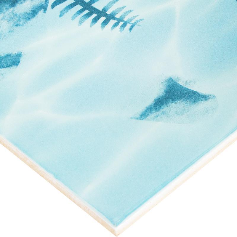 Декор «Лагуна Водоросли» 24.9х36.4 см цвет голубой
