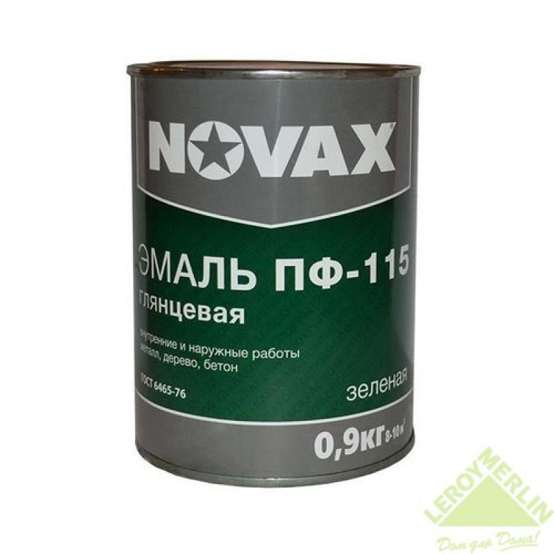 Эмаль Novax ПФ-115 0.9 кг цвет зелёный
