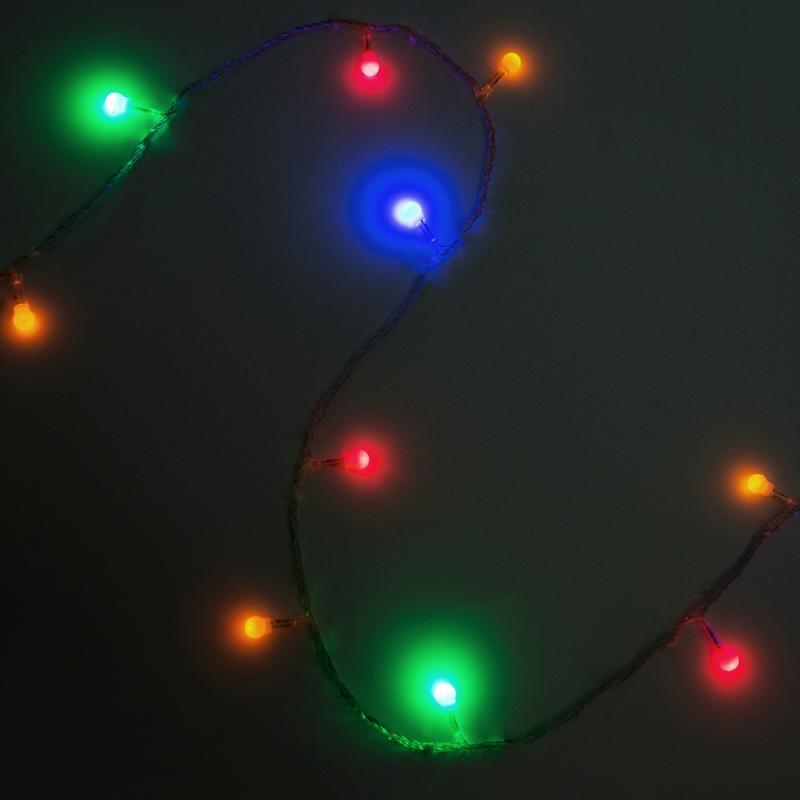 Электрогирлянда светодиодная «Минишар» для дома 200 ламп 20 м, цвет мультиколор