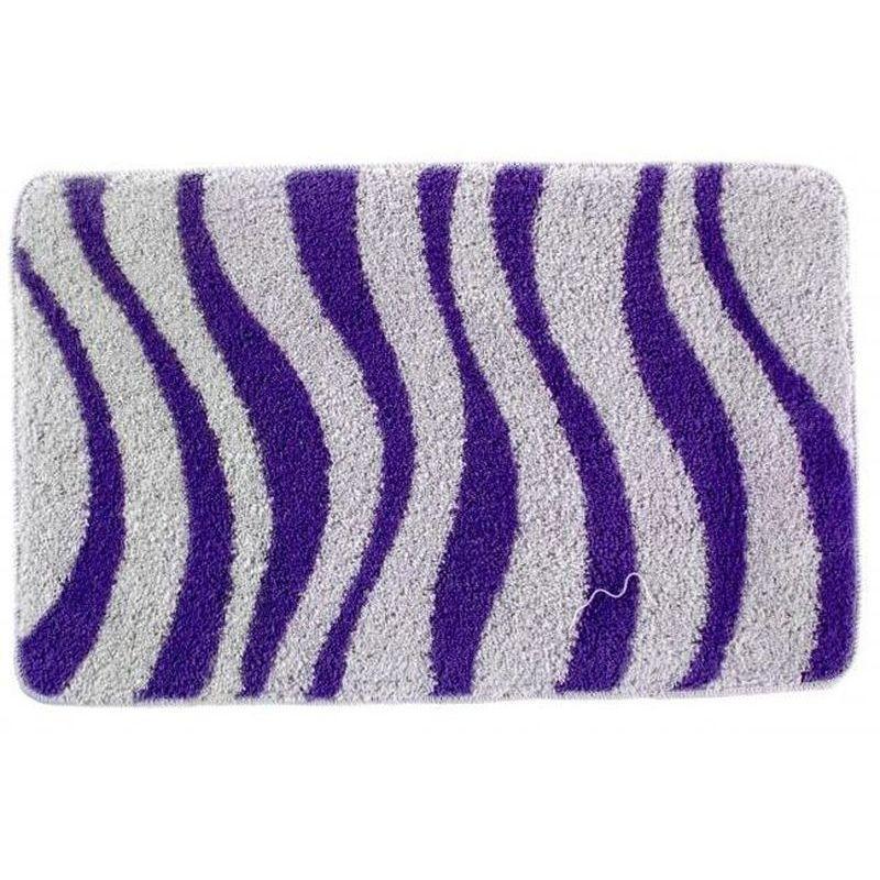 Коврик для ванной комнаты Волна 50х80, фиолетовый П/А