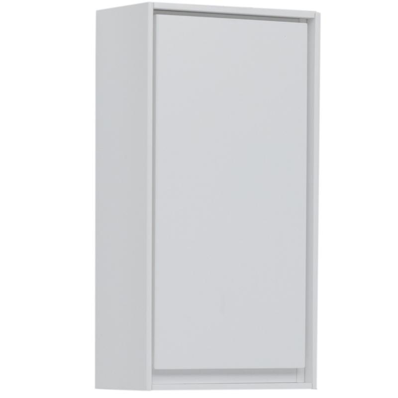Шкаф подвесной «Мокка» 35 см, цвет белый глянец