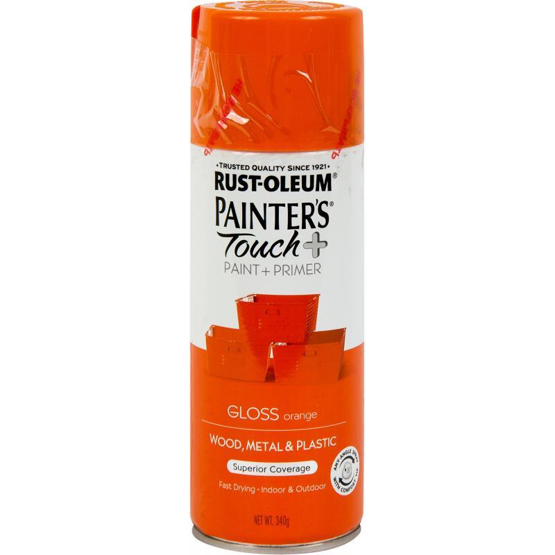 Краска аэрозольная Paint Touch глянцевая цвет оранжевый 340 г