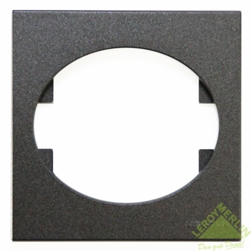 Рамка для розеток и выключателей Tacto, 1 пост, цвет антрацит