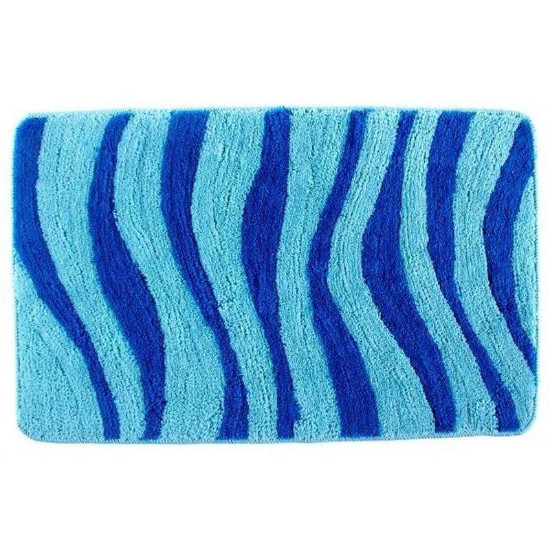 Коврик для ванной комнаты Волна 1,2см 50х80, синий