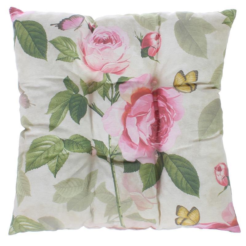 "Сидушка ""Садовый аромат"" 40х40 см, цвет розовый"