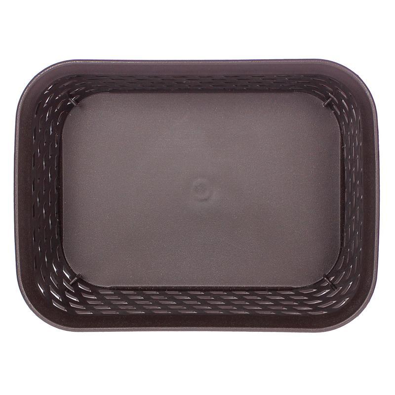 Корзина для хранения «Ротанг», 1 л, 18.5х14х7 см, цвет коричневый
