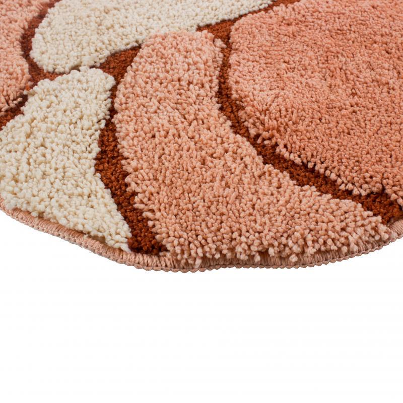 Коврик для ванной комнаты Овал, 60х90 см, микрофибра, цвет оранжевый,
