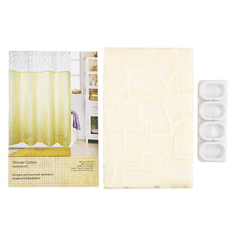 Штора для ванной комнаты «Грация» 180х200 см цвет бежевый