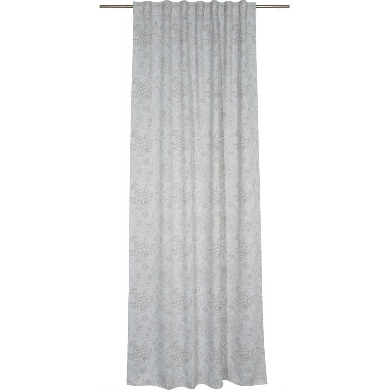 Штора на ленте «Цветы», 140x280 см, димаут, цвет серый