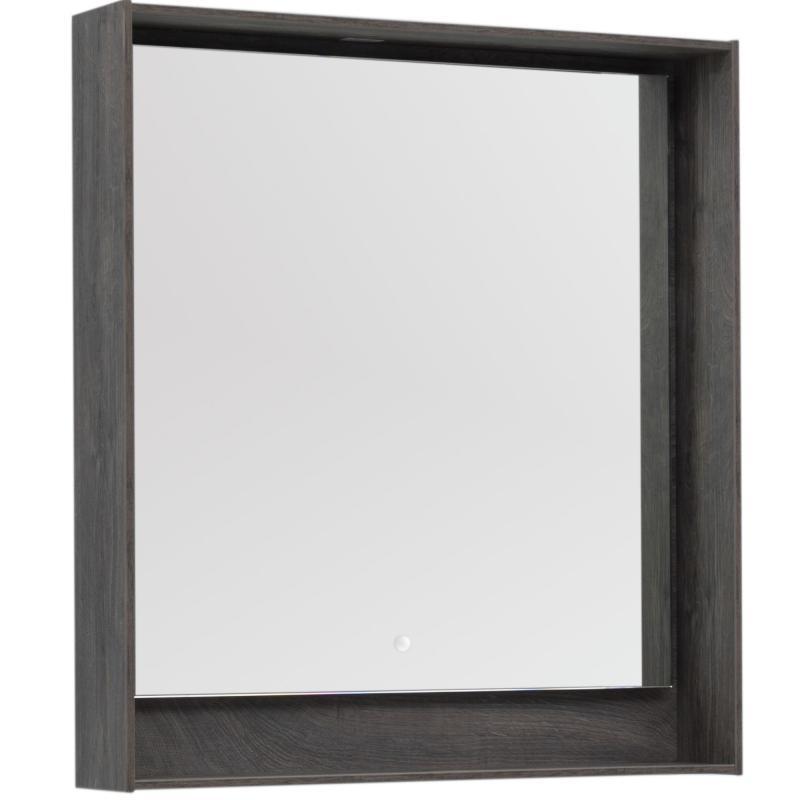 Зеркало с подсветкой «Мокка» 80 см, цвет дуб серый