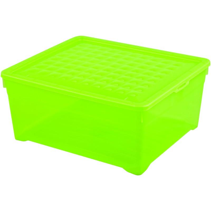 Контейнер Curver Textille прозрачный зеленый, 18,5 л