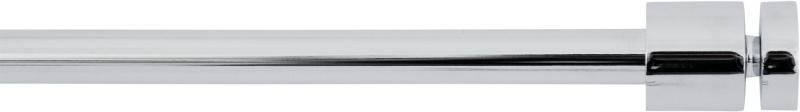 Карниз однорядный «Цилиндр», 160-300 см, цвет хром