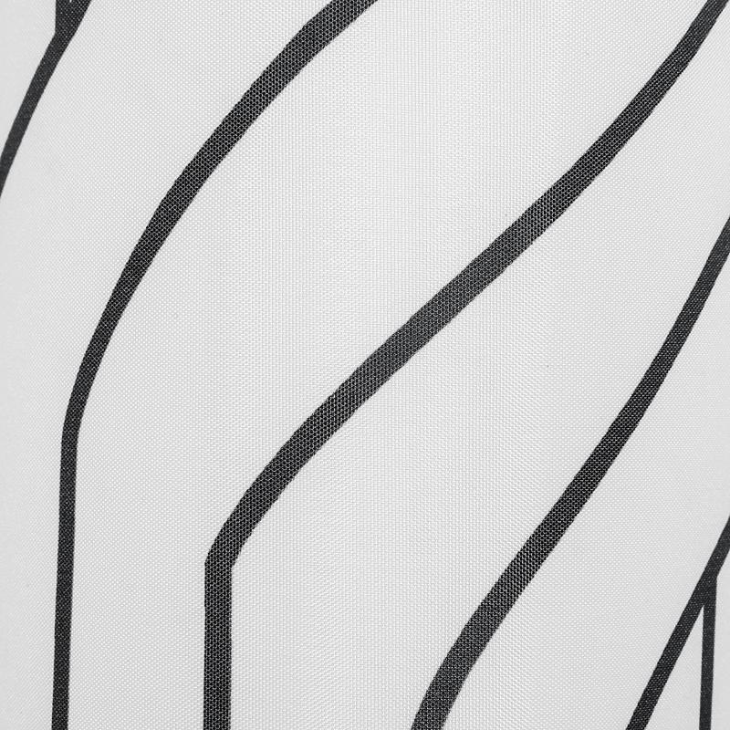Штора для ванны Track 180x180 см, полиэстер, цвет белый/чёрный