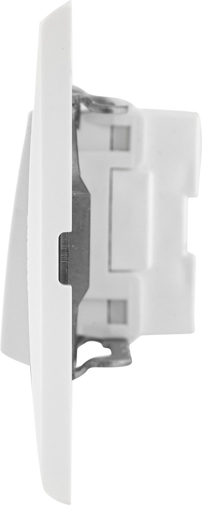 Выключатель встраиваемый Legrand Anam Zunis 1 клавиша с подсветкой, цвет бежевый