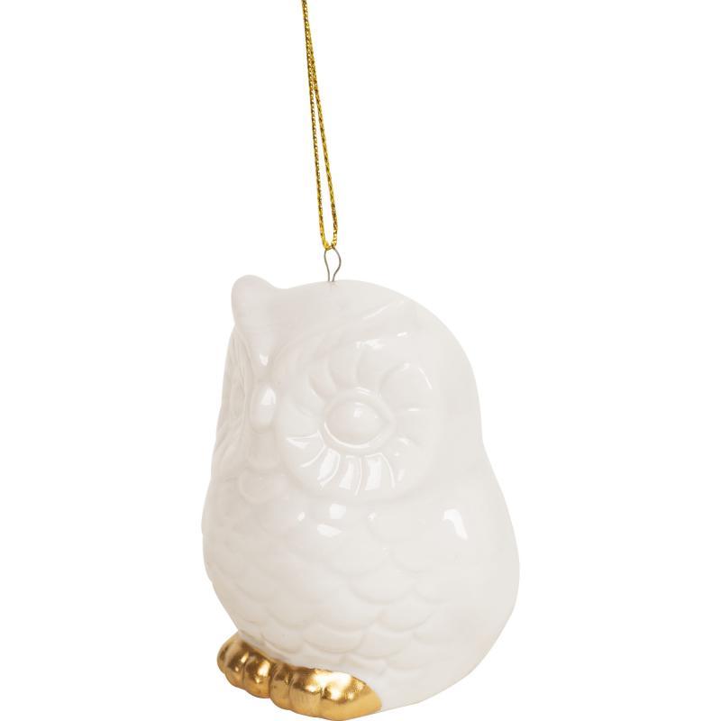 Украшение ёлочное «Совушка», 6 см, фарфор
