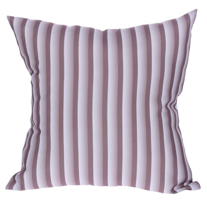 Подушка декоративная «Полосы», 40х40 см, цвет коричневый