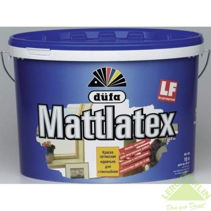 Краска для стен и потолков Dufa Mattlatex 10 л цвет белый