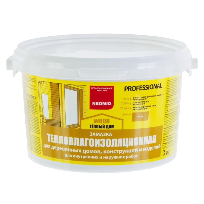 Замазка для дерева Neomid цвета сосна 3 кг