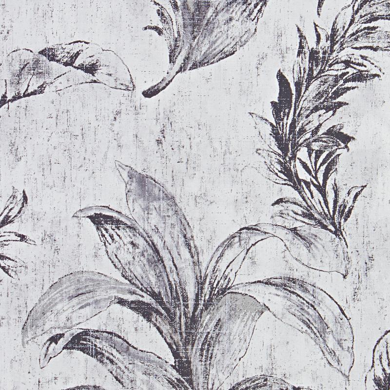 Обои флизелиновые 0.53х10 м листья цвет серый АС 304562