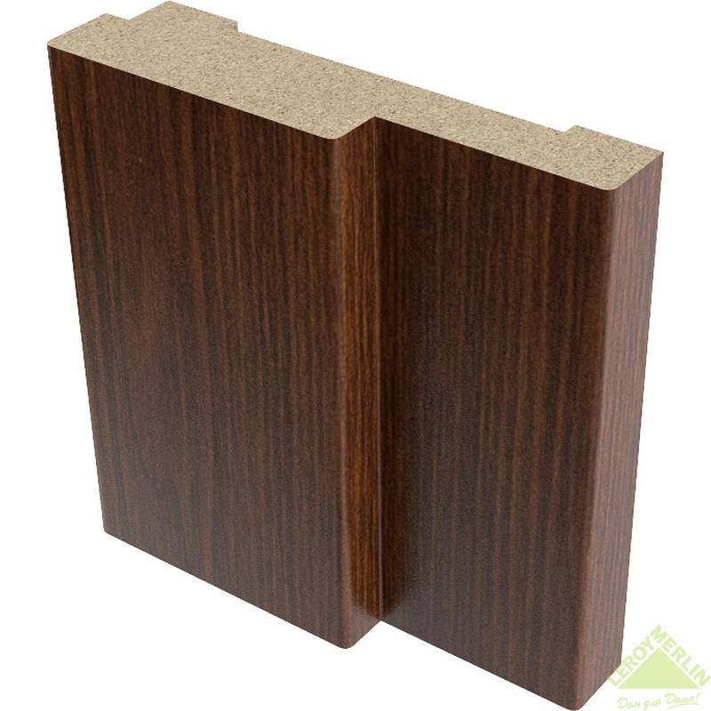 Коробка дверная полукруглая 26x70 мм, ПВХ, венге
