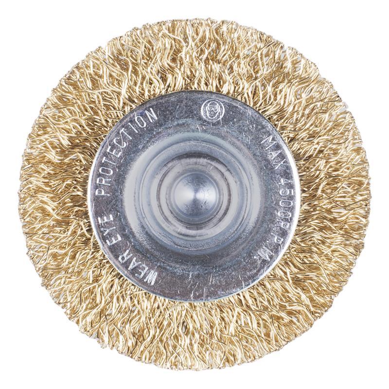 Щетка для дрели дисковая Dexter 50 мм латунная