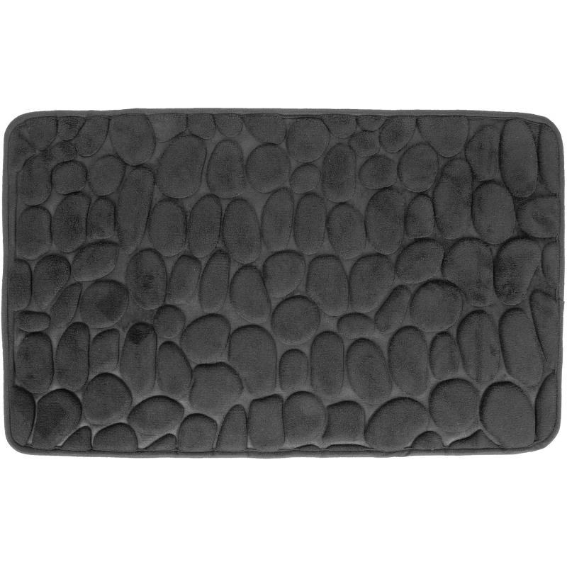 Коврик для ванной Grampus 80х50 см цвет чёрный