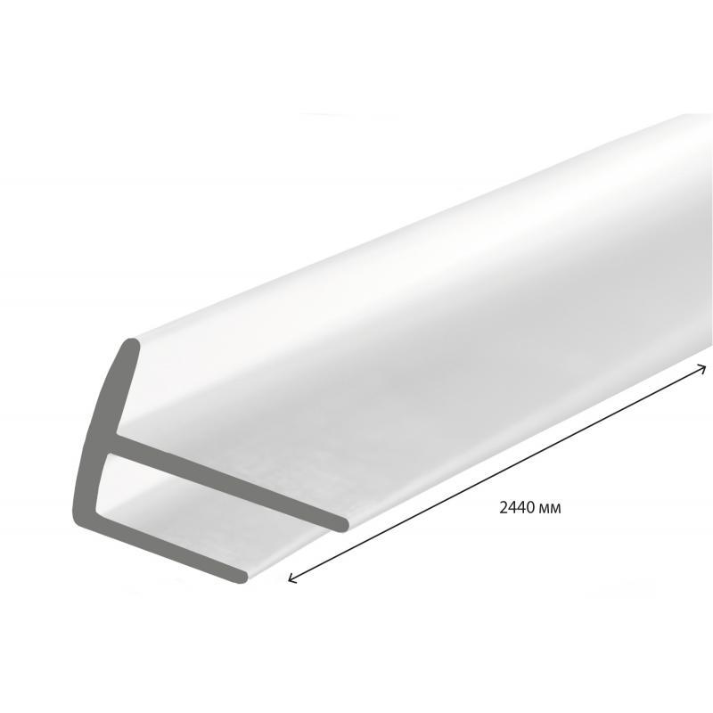 Угол ПВХ наружный 2440 мм, цвет белый