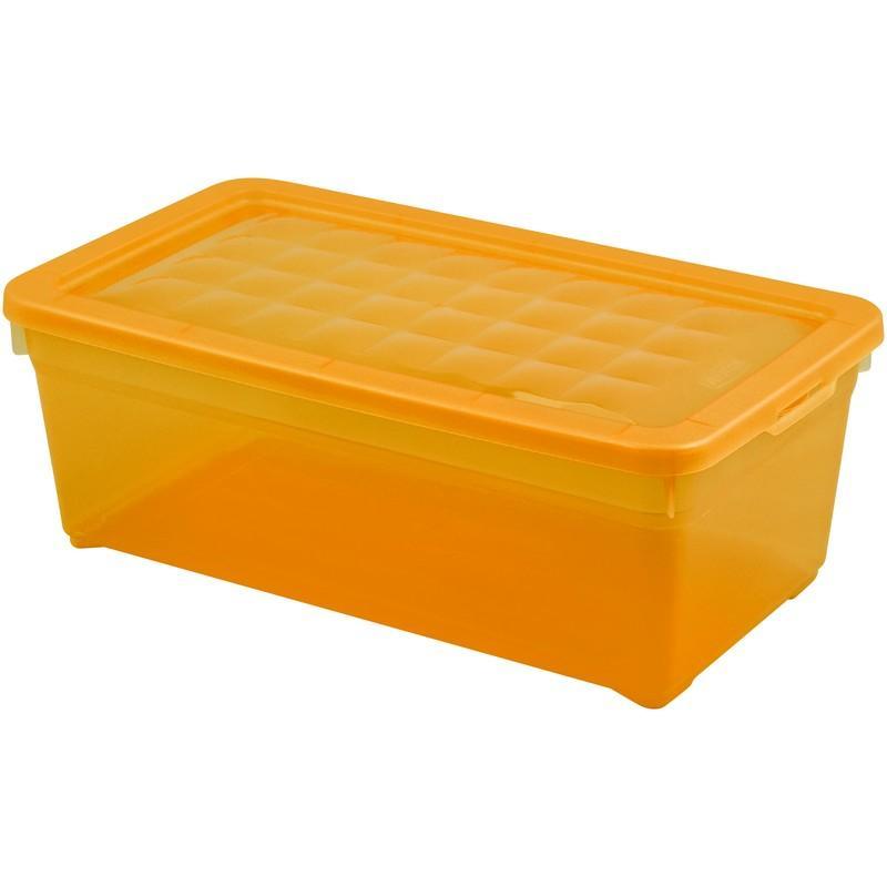 Контейнер Curver Textille прозрачный оранжевый, 5,7 л