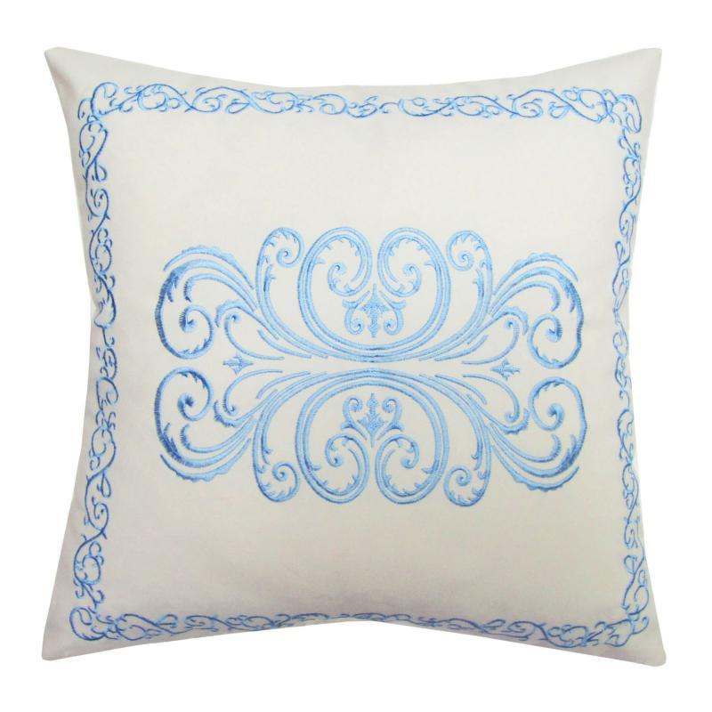 Подушка декоративная «Неоклассика», 40х40 см, цвет голубой