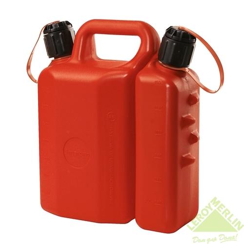 Канистра топливо-масло для двухтактной техники, 3,5 л + 1,5 л