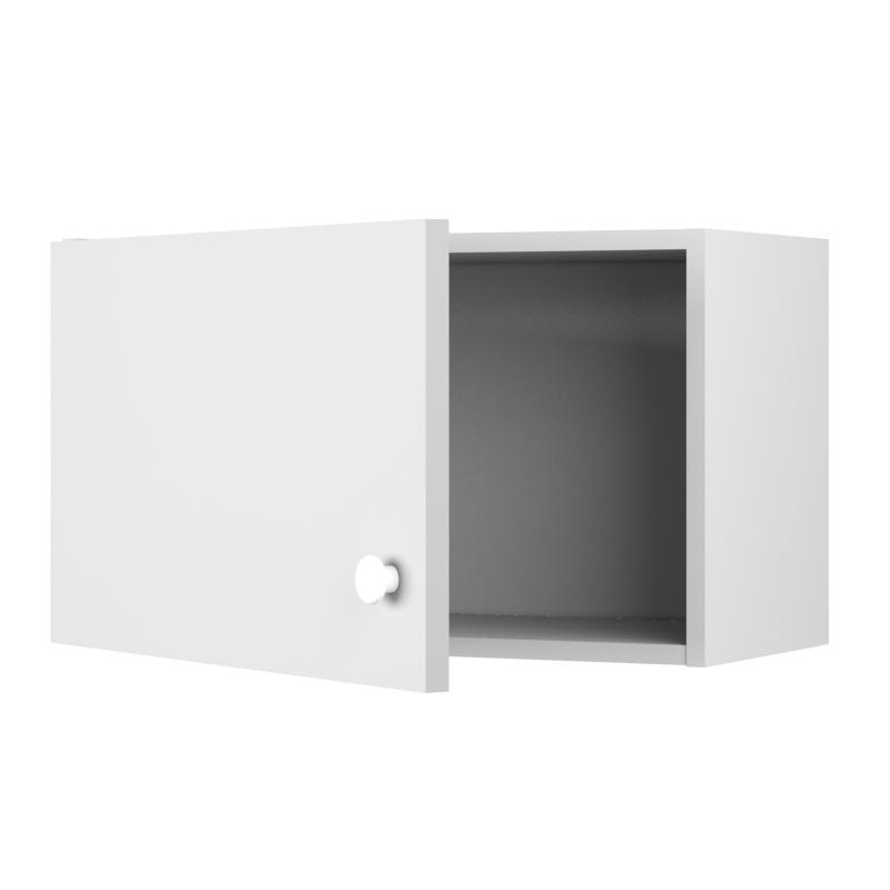 Шкаф навесной над вытяжкой «Бьянка МО» с фасадом 35х60 см, ЛДСП, цвет белый