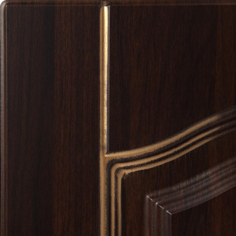 Дверь для кухонного шкафа «Византия», 30х92 см, цвет тёмно-коричневый