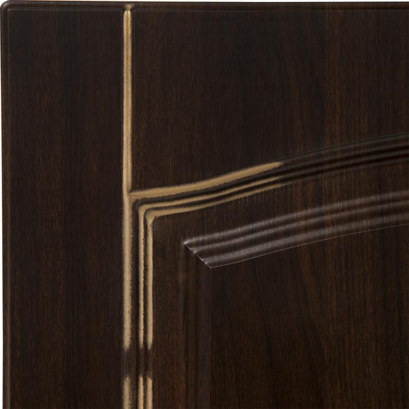 Дверь для кухонного шкафа «Византия», 60х35 см, цвет тёмно-коричневый