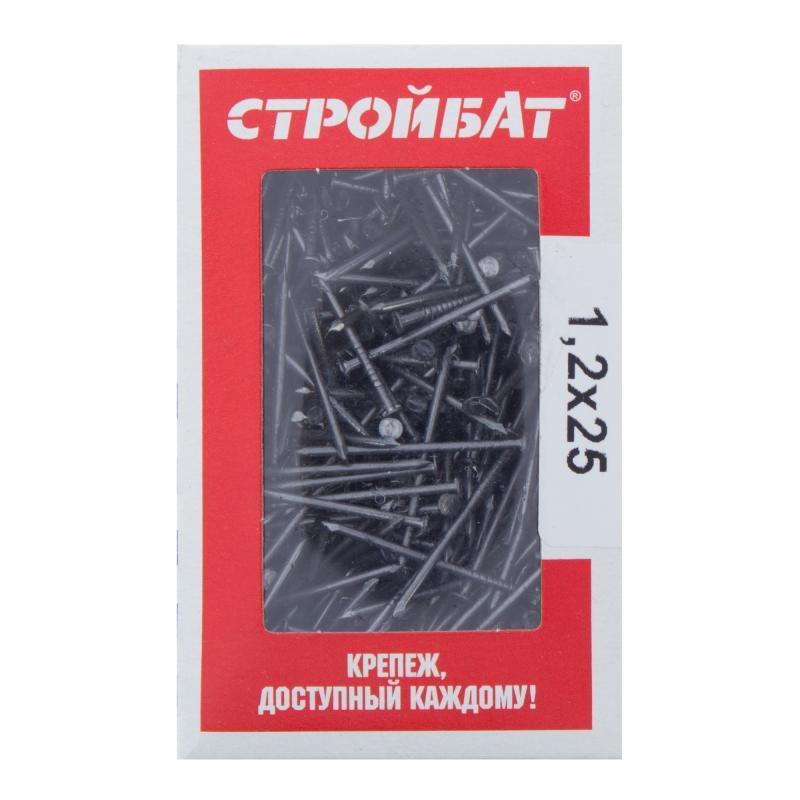 Гвозди строительные 1.2х25 мм, 0.2 кг