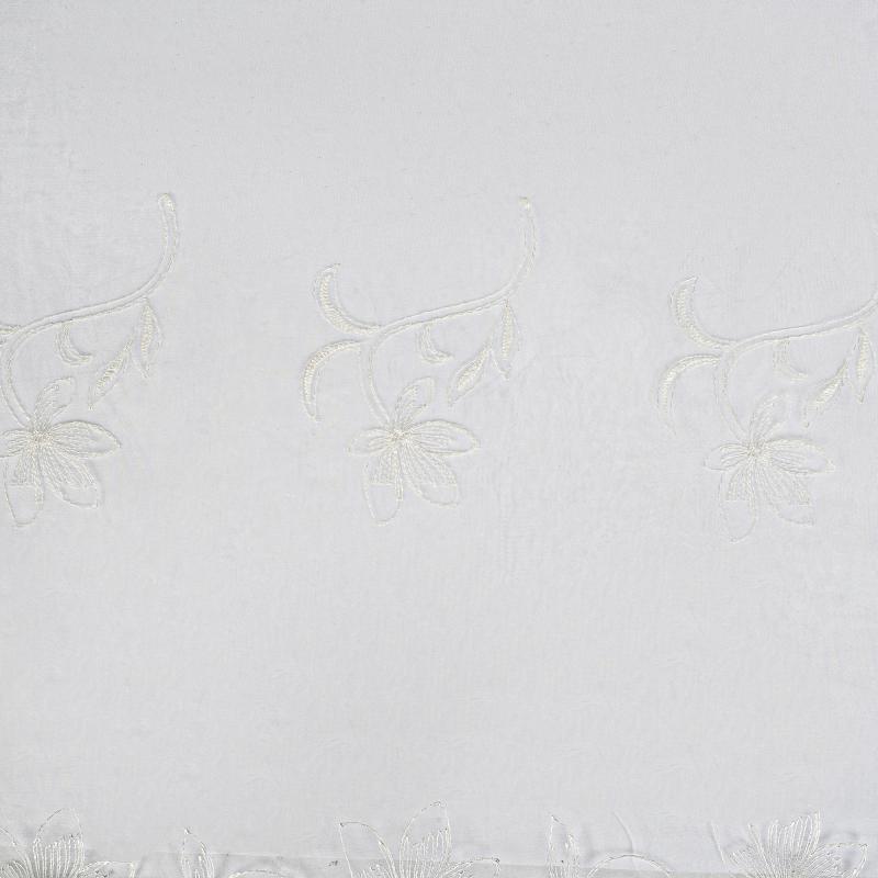 Тюль 1 п/м «Цветы», вышивка, 280 см, цвет молочный