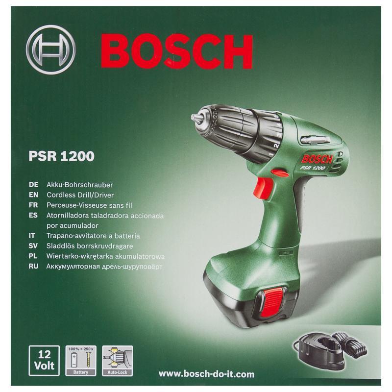 Шуруповерт Bosch PSR 1200, 12 В
