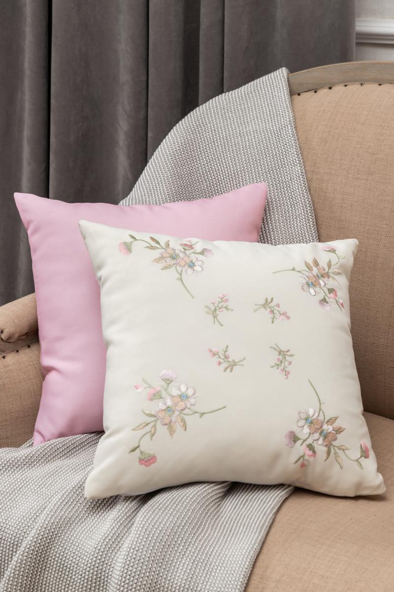 Подушка декоративная «Тиффани: Цветы мелкие», 40х40 см,