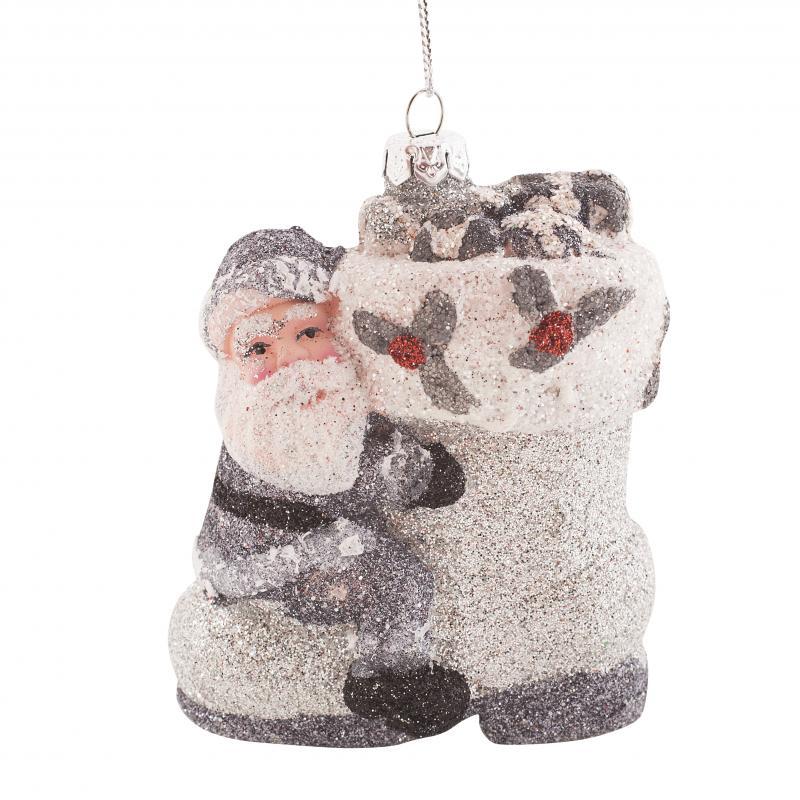 Украшение ёлочное «Санта на сапоге», 9 см
