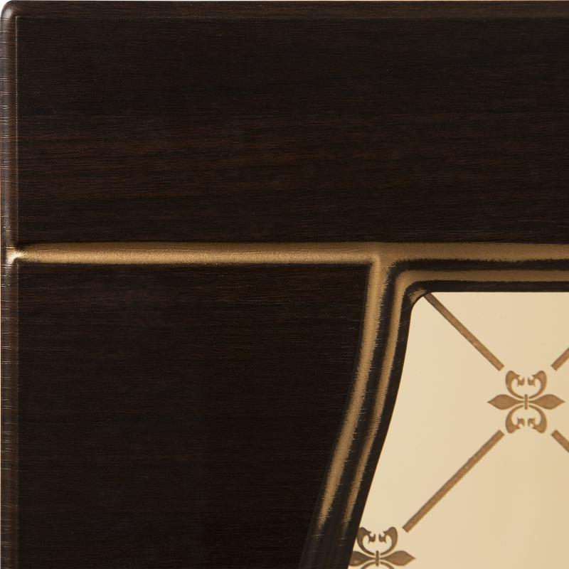 Витрина для шкафа «Византия», 40х92 см, цвет тёмно-коричневый