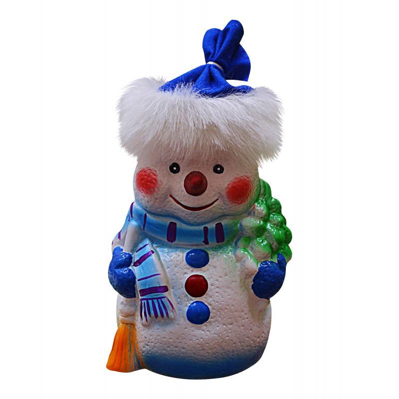 Кукла под ёлку «Снеговик», 30 см
