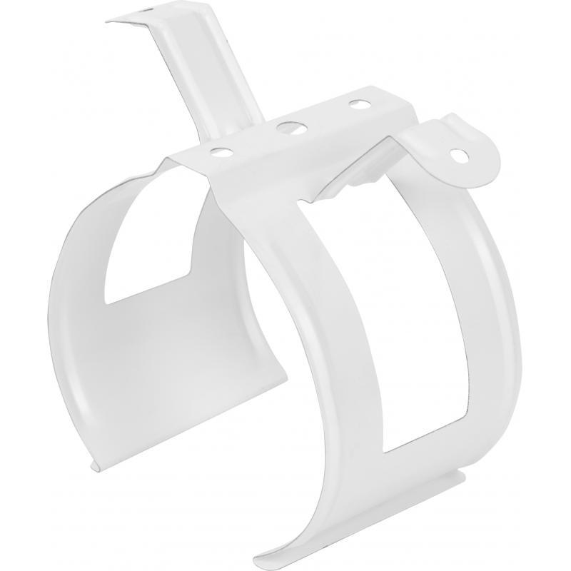 Хомут для водосточной трубы цвет белый