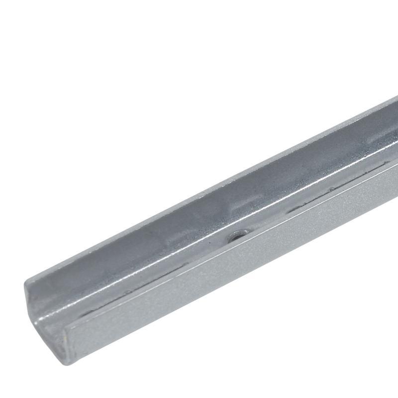 Направляющая однорядная Larvij 150 см 55 кг/20 см цвет матовое серебро